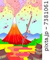噴火 活火山 火山のイラスト 7381061