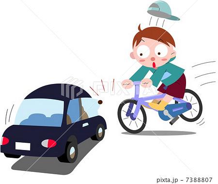 イラスト素材: 自転車飛び出し
