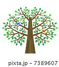 樹木 木 鳥のイラスト 7389607