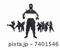 男性 人物 忍者の写真 7401546