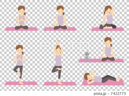 瑜伽運動伸展 7422773