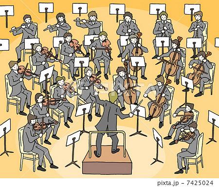 オーケストラのイラスト素材 7425024 Pixta