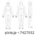 人体略図(性別無し) 7427032