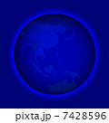 グローバル 世界地図 地球儀のイラスト 7428596