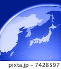 世界地図 グローバル 地球儀のイラスト 7428597