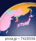 世界地図 グローバル 地球儀のイラスト 7428598