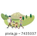 親子 トレッキング 家族のイラスト 7435037