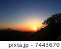白神山地からの日の出 7443670
