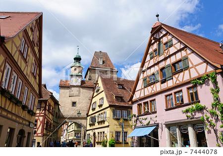 ドイツ ローテンブルクの町並み マルクス塔 7444078