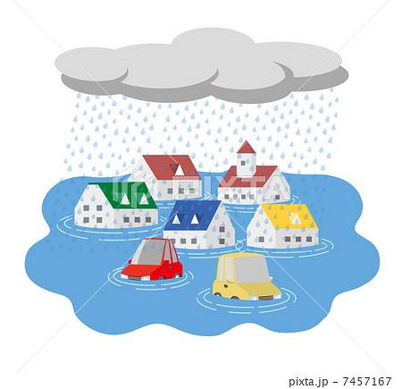 大雨洪水のイラスト素材 7457167 Pixta