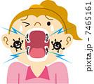 虫歯 ベクター 歯のイラスト 7465161