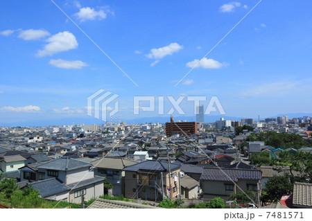 新潟市中央区の街並みの写真素材 [7481571] - PIXTA