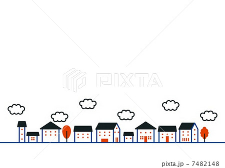 かわいい家のイラストのイラスト素材 7482148 Pixta