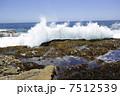 水しぶき 岩場 波しぶきの写真 7512539