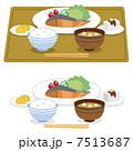 味噌汁 ご飯 鮭のイラスト 7513687