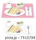 サンドイッチ サンド 朝ご飯のイラスト 7513798