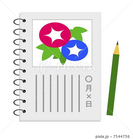 アサガオの観察日記のイラスト素材 7544756 Pixta