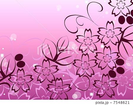 桜の花デザインのイラスト素材 7548621 Pixta