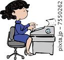 オフィスレディ 人物 ビジネスウーマンのイラスト 7550262