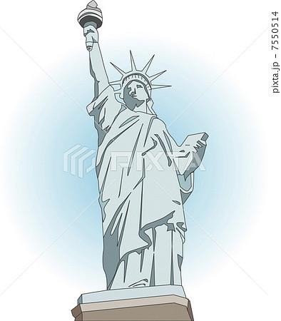 自由の女神像のイラスト素材 7550514 Pixta
