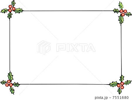 ヒイラギの四角形飾り枠のイラスト素材 7551680 Pixta