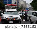 交通事故現場 パトカー 自動車の写真 7566162