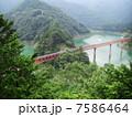 大井川鉄道 奥大井湖上駅風景 7586464