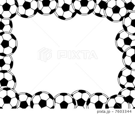 サッカーボールのフレームのイラスト素材 7603344 Pixta