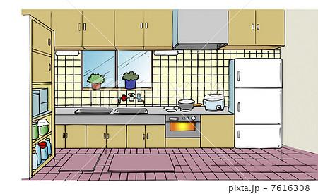 キッチンのイラスト素材 7616308 Pixta