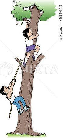 木登りのイラスト素材 7616448 Pixta