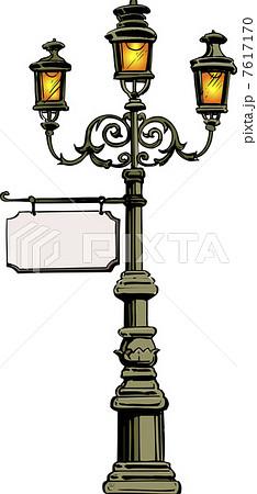ガス燈のイラスト素材 7617170 Pixta