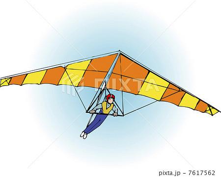 ハングライダーのイラスト素材 [7617562] - PIXTA