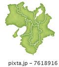 近畿地方 近畿地方の地図 近畿のイラスト 7618916
