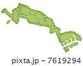 川崎市の境界線入り地図 7619294