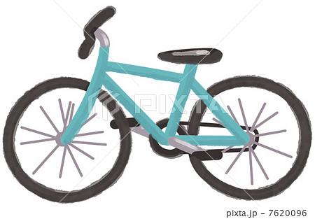 自転車の 自転車 素材 イラスト : 自転車のイラスト素材 [7620096 ...