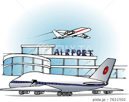 イラスト素材:空港