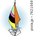 ヨット 乗り物 船舶のイラスト 7621569