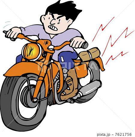 暴走バイクのイラスト素材 7621756 Pixta