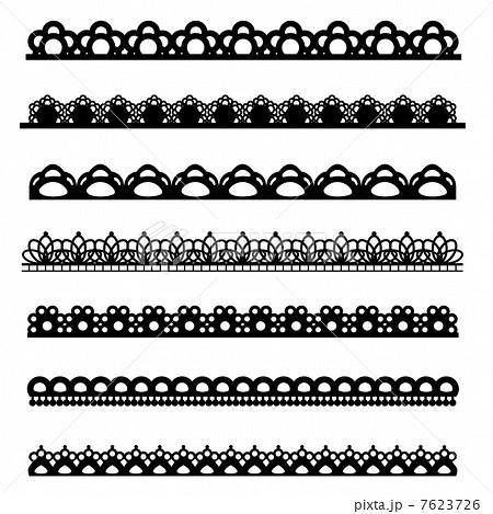 レース 素材 セットのイラスト素材 7623726 Pixta