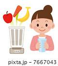 果物 ミキサー 野菜ジュースのイラスト 7667043