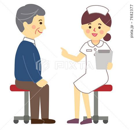 看護師と患者診察のイラスト素材 7682377 Pixta