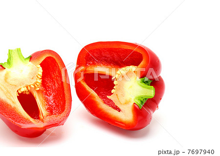赤いパプリカ 野菜の断面 7697940