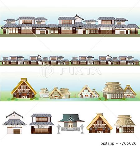 昔の街並み 都市と農村のイラスト素材 [7705620] , PIXTA