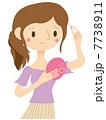 枝毛 ベクター 女性のイラスト 7738911