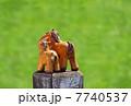 2014年 馬の親子 午年 年賀状 正月イメージ素材 7740537
