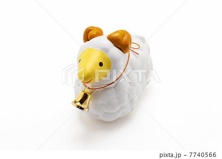 羊年年賀素材(未年)干支 切抜き写真素材|白バック 7740566
