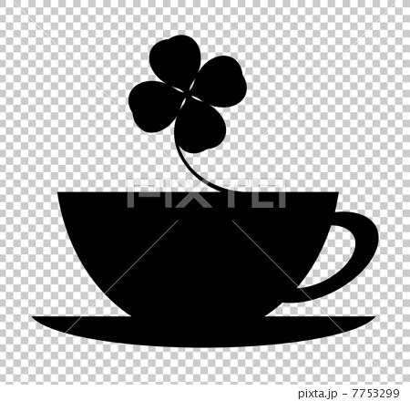 咖啡杯和三葉草 7753299
