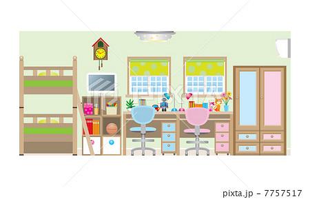 子供達の部屋 Type2のイラスト素材 7757517 Pixta