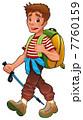 トレッキング 山歩き 人のイラスト 7760159