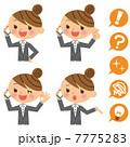 通話 ビジネスウーマン スマートフォンのイラスト 7775283